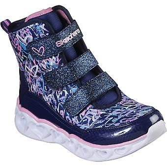 Skechers Girls Heart Lights Scribble Hearts Hightops Shoes