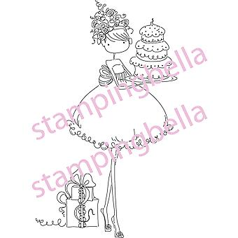 Stamping Bella Unmounted Rubber Stamp Uptown Girl Ava Loves To Celebrate Eb216