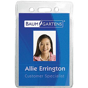 Badge Holder Vertical 12 Pkg Clear 67820