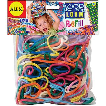 Loop 'N Loom Refill 108 Pkg Multi Colors 184R