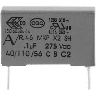 MKP suppression capacitor Radial lead 150 nF 275 V 20 % 15 mm (L x W x H) 18 x 7.5 x 13.5 Kemet R46KI315000M1M+ 1 pc(s