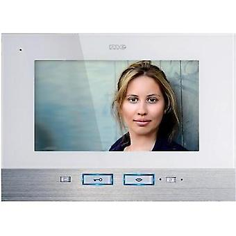 Video door intercom Corded Indoor panel m-e modern-electronics VDV 507 WW Detached White, Stainless steel