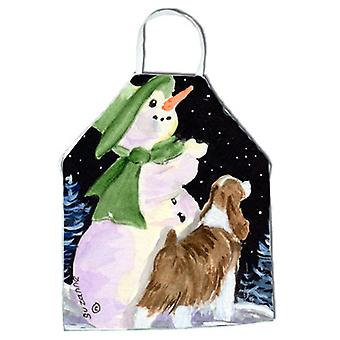 Snowman with English Springer Spaniel Apron