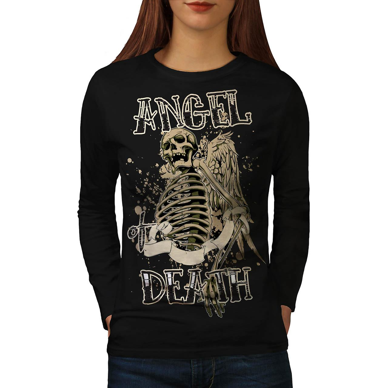 Angel Death Halo Wing Hell Gate Women Black Long Sleeve T-shirt | Wellcoda