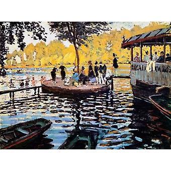 La Grenouillere Frog Pond 1869 affisch Skriv ut av Claude Monet