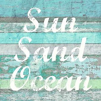 Zon zand Ocean Poster Print by Evangeline Taylor