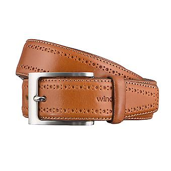 Windsor. Belts men's belts leather belt Cognac 3170