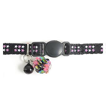 Safety Buckle Kitten Collar Luxury Jewel Black (Pack of 3)