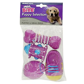 Small Bite Puppy Vinyl Selection Assorted 8cm 4pk (Pack of 6)