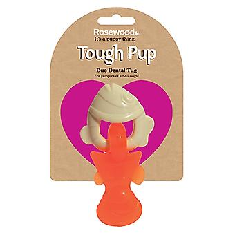 Tough Toys Duo Texture Dental Tug Puppy Fish 15cm (Pack of 3)