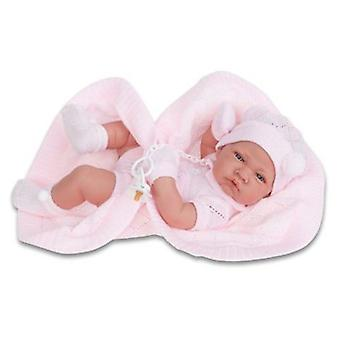 Antonio Juan Newborn Girl With Pink Blanket
