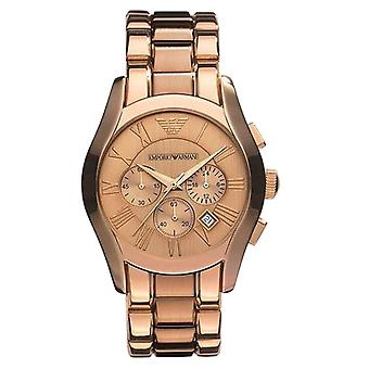 Emporio Armani AR0365 Marco Valente Rose Gold Plated Tone Gold Dial Chronograph Watch