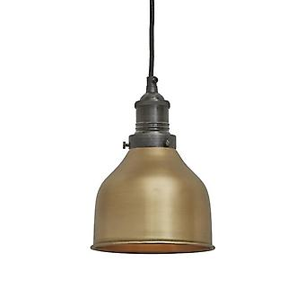 Brooklyn Vintage Small Metal Cone Pendant Light - Brass - 7