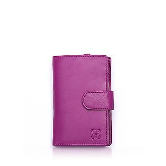 Leather Purse 14.5cm in Pink