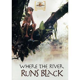 Där River Runs svart [DVD] USA import