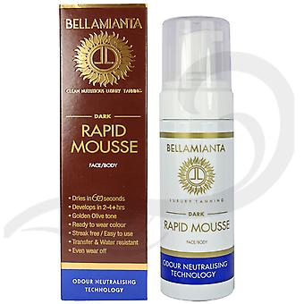 Bellamianta Self Tanning Rapid Mousse Dark 150ml