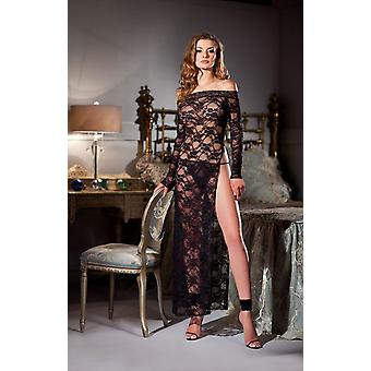 Be Wicked BW1372 1 Piece Boatneck full length lace gown