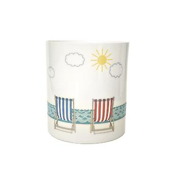 Light-Glow Porcelain Candle Holder, Deck Chairs