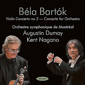 Bartok / Augustin Dumay - Violin Concerto No 2: koncert for orkester [CD] USA import