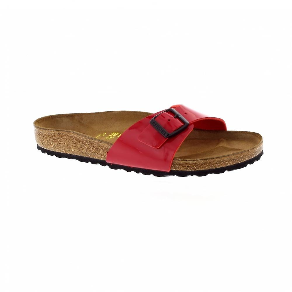 Birkenstock Madrid Regular Fit - Patent Tango Red 340111 (Man-Made) Womens Sandals