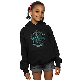 Harry Potter ragazze Slytherin Distressed Crest Hoodie