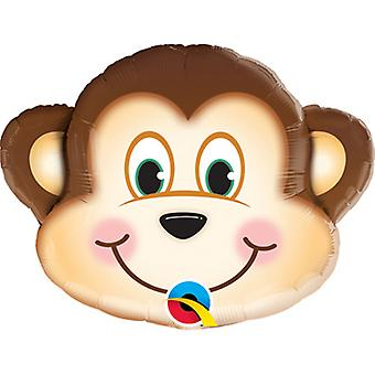 Qualatex Monkey Shaped Foil Balloon