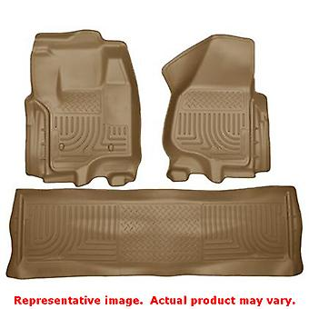 Husky Liners 99713 Tan WeatherBeater Front & 2nd sæde F passer: FORD 2012-2014 F