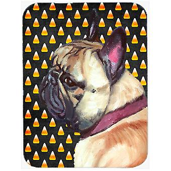 French Bulldog Frenchie Candy Corn Halloween Mouse Pad, Hot Pad or Trivet