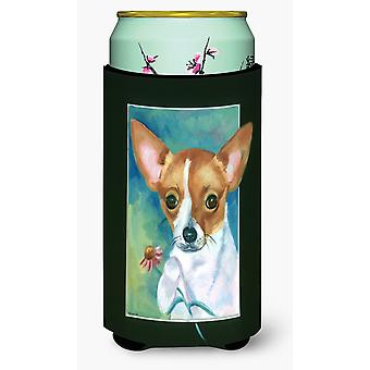 Chihuahua and Daisy Tall Boy beverage Insulator Hugger