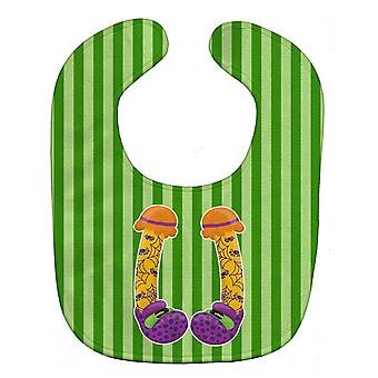 Carolines Treasures  BB9108BIB Halloween Witch's Feet Baby Bib