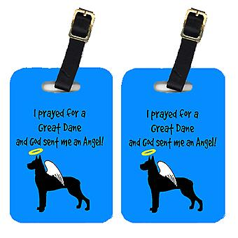 Carolines Treasures  AN1080BT Pair of 2 Great Dane Luggage Tags