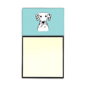 Sjakkbrett blå dalmatiske Refiillable klistrelapp holderen eller Postit Note Dispen