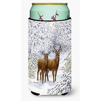 Carolines Treasures  ASA2148TBC Two Deer Tall Boy Beverage Insulator Hugger