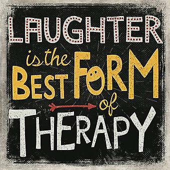 Laughter Poster Print by Mollie B (12 x 12)
