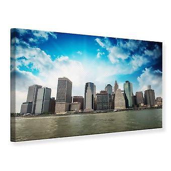 Leinwand drucken Skyline von Lower Manhattan