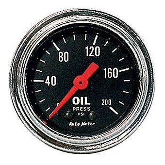 Auto Meter 2422 Traditional Chrome Mechanical Oil Pressure Gauge