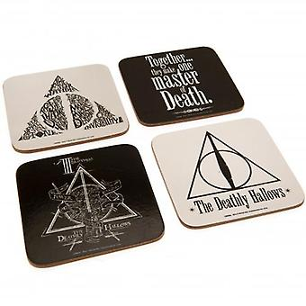 Harry Potter Coaster Set Deathly Hallows