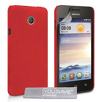 Yousave Accessories Huawei Ascend Y330 Hard Hybrid Case - Red