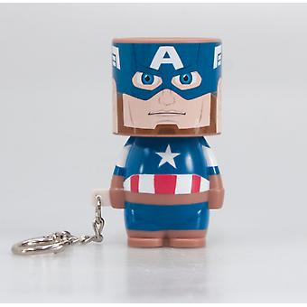 Official Marvel Captain America Look-Alite Light Keyring / Keychain