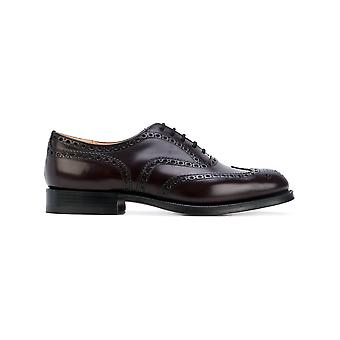 Church's men's EEB0029XF0ADY Braun leather lace-up shoes