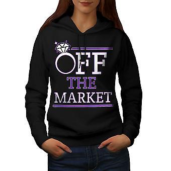 Off The Market Women BlackHoodie | Wellcoda