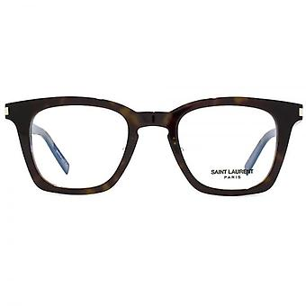 Saint Laurent SL 139 Slim Glasses In Dark Havana