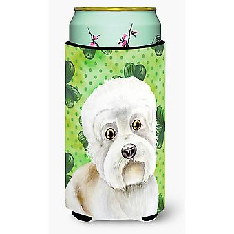 Dandie Dinmont Shamrocks Tall Boy Beverage Insulator Hugger