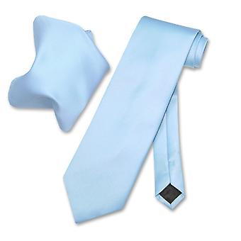Vesuvio Napoli Solid NeckTie & Handkerchief Men's Neck Tie Set