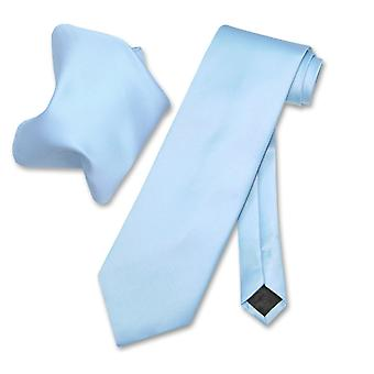 Vesuvio Napoli Solid slips & lommetørkle menns halsen Tie sett