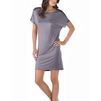 Mey 11933-420 Women's Selina Shale Grey Solid Colour Night Gown Loungewear Nightdress