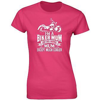 Soy un Biker mamá excepto mucho más fresco mujeres camiseta 8 colores (8-20) por swagwear