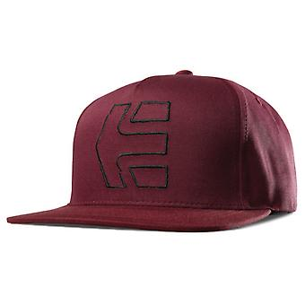 ETNIES tratto icona Snapback Cap - Borgogna