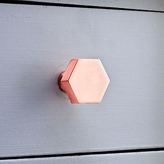 Brushed Brass Hexagonal Copper Cupboard Door Knobs