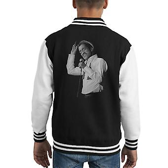 Sammy Davis Jr Singing In Concert 1982 Kid's Varsity Jacket